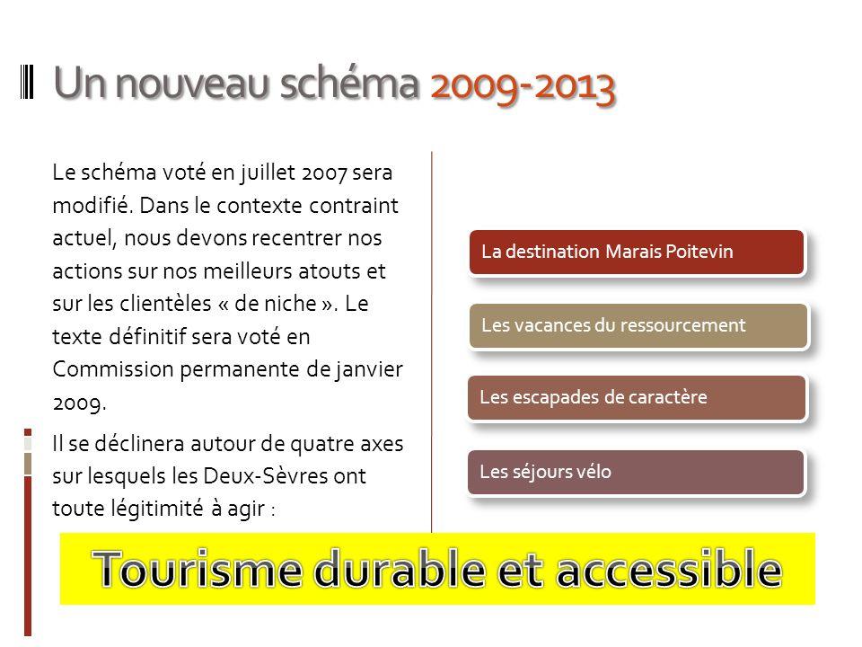 Un nouveau schéma 2009-2013 Le schéma voté en juillet 2007 sera modifié. Dans le contexte contraint actuel, nous devons recentrer nos actions sur nos