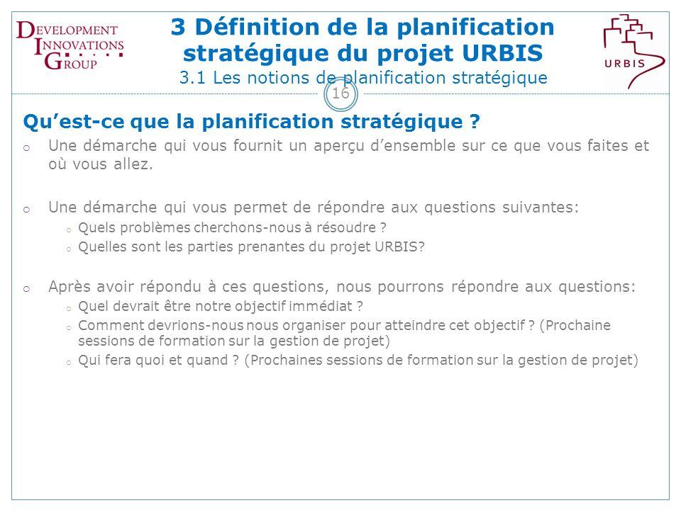 16 Quest-ce que la planification stratégique .