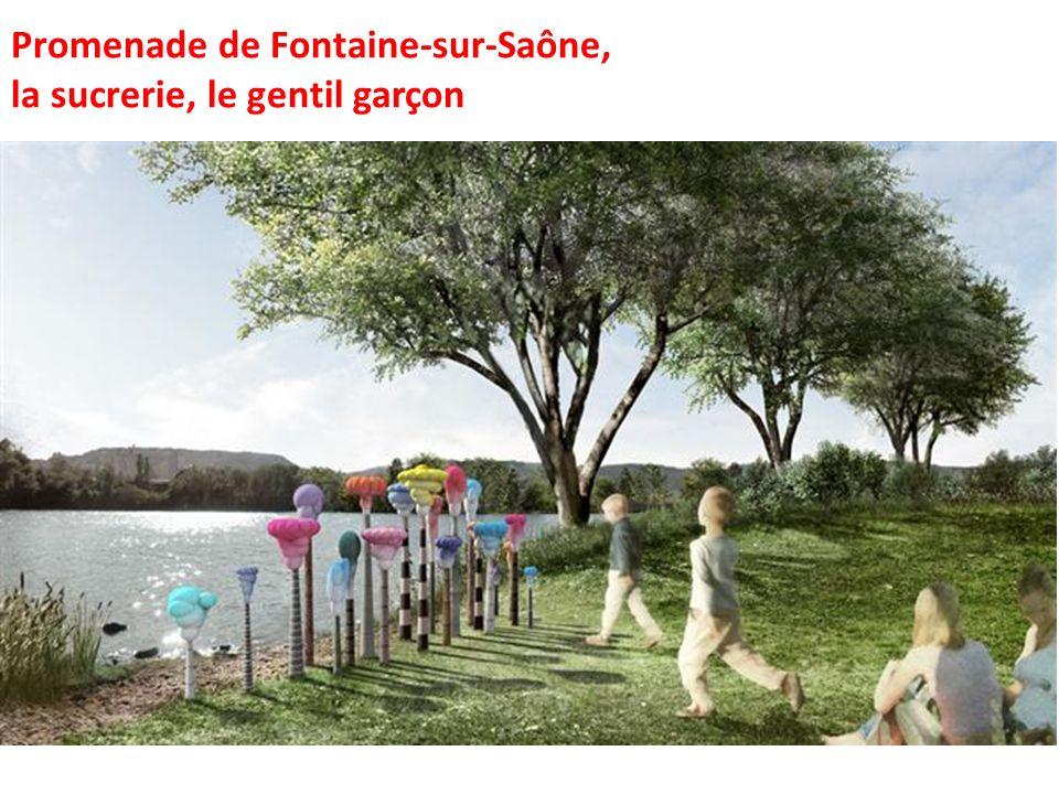 Promenade de Fontaine-sur-Saône, la sucrerie, le gentil garçon