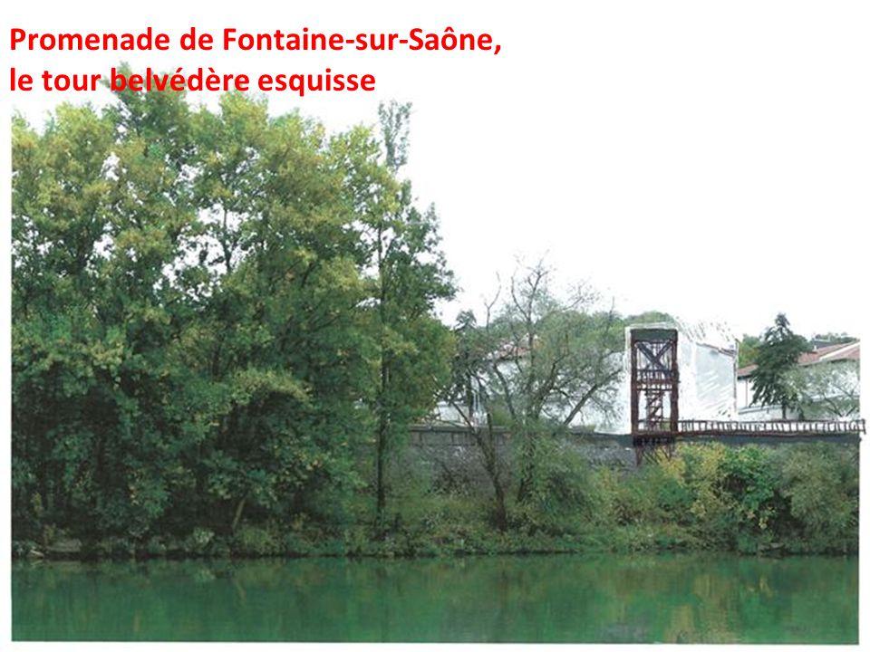 Promenade de Fontaine-sur-Saône, le tour belvédère esquisse