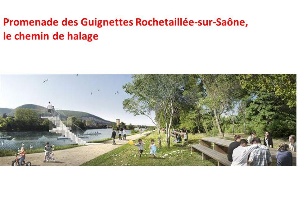 Promenade des Guignettes Rochetaillée-sur-Saône, le chemin de halage