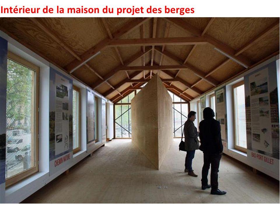 Intérieur de la maison du projet des berges