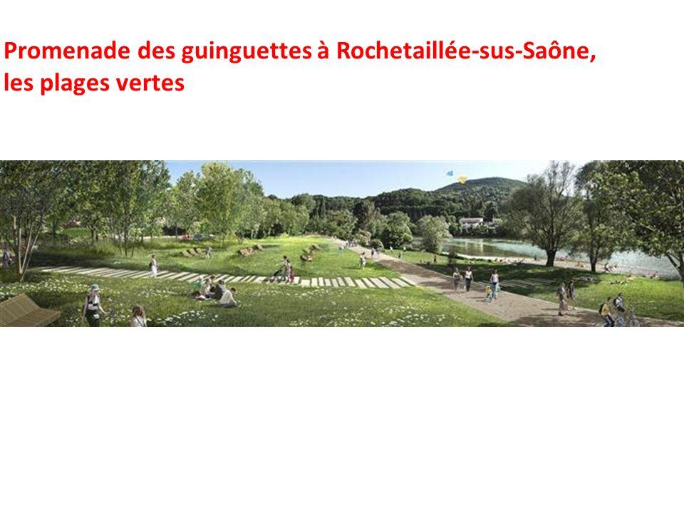 Promenade des guinguettes à Rochetaillée-sus-Saône, les plages vertes
