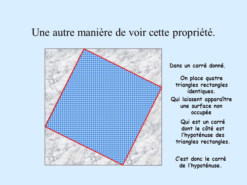 Donc, finalement, le grand carré est rempli par les deux petits.