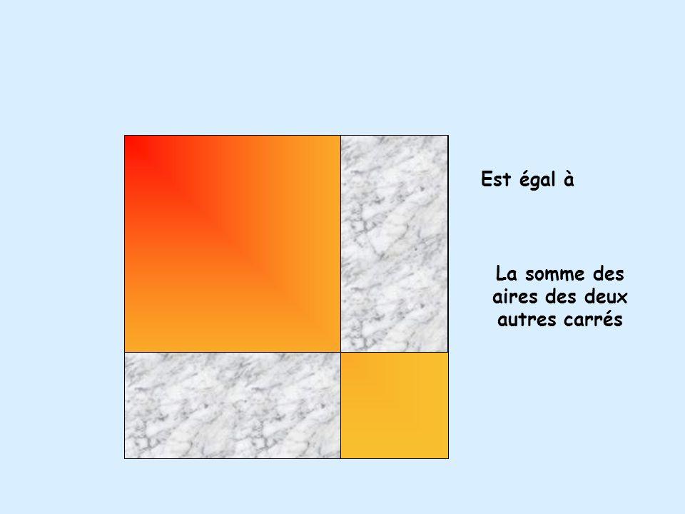 L aire du carré de lhypoténuse