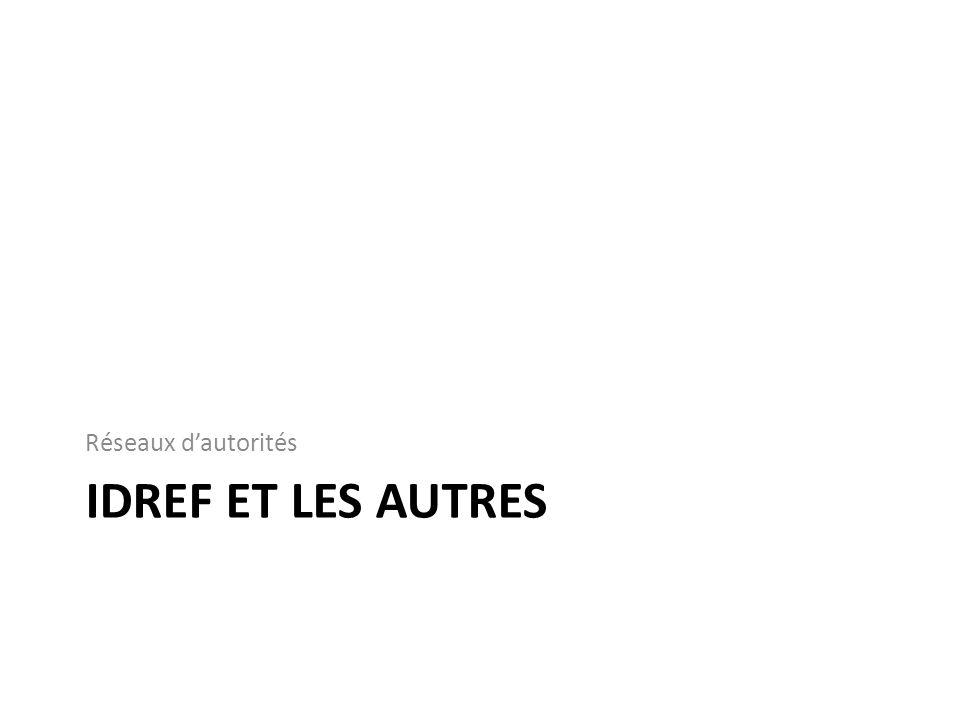 Sudoc Notices bibliographiques IdRef Notices dautorité