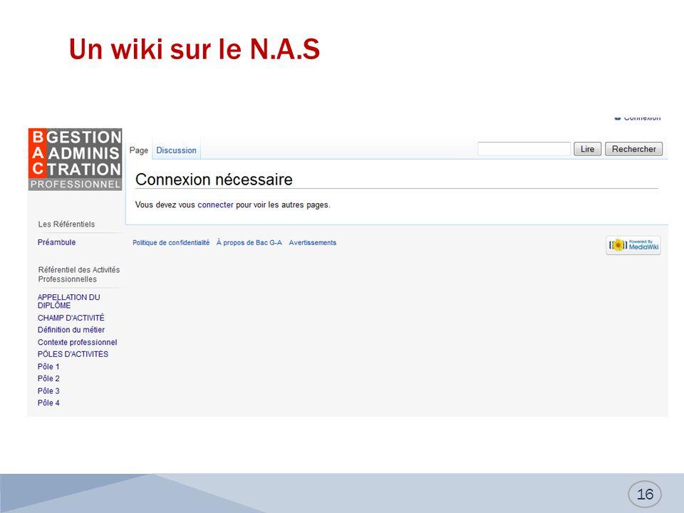 Un wiki sur le N.A.S 16