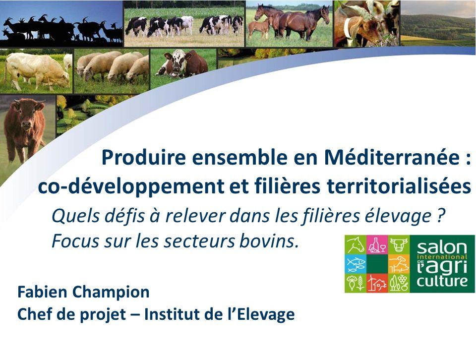 Fabien Champion Chef de projet – Institut de lElevage Produire ensemble en Méditerranée : co-développement et filières territorialisées Quels défis à relever dans les filières élevage .