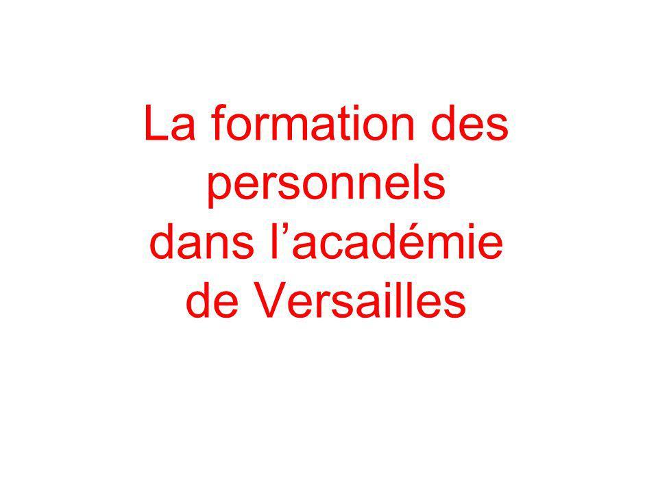 La formation des personnels dans lacadémie de Versailles