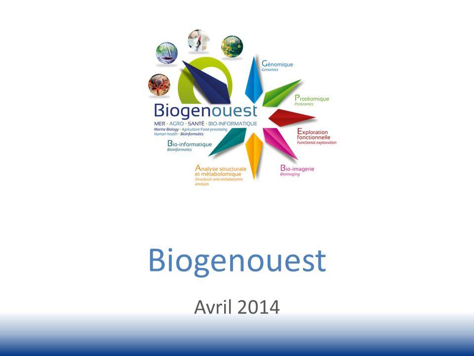 Le réseau des plates-formes du Grand Ouest en sciences du vivant et de lenvironnement Réseau interrégional : Bretagne et Pays de la Loire Directeur : Christian Diot (Inra) Quest-ce que Biogenouest .