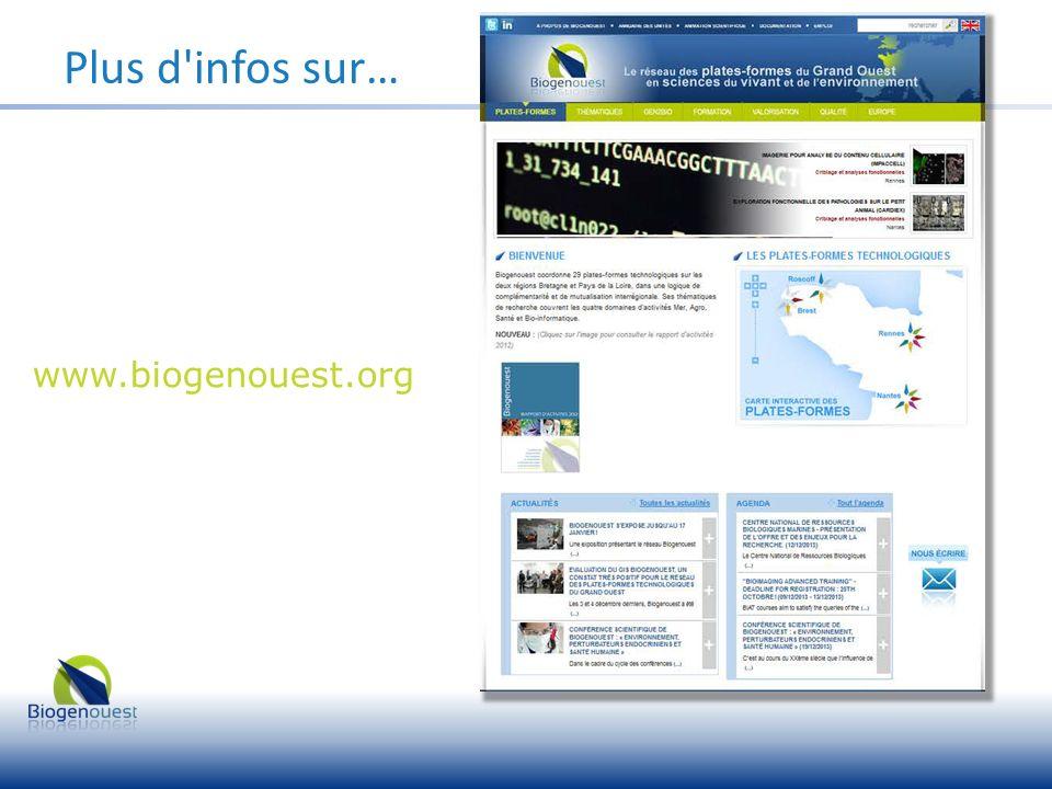 Plus d'infos sur… www.biogenouest.org