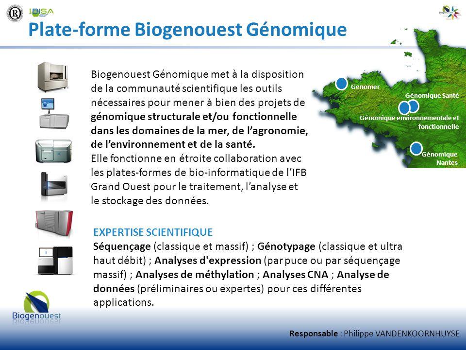 Plate-forme Biogenouest Génomique Biogenouest Génomique met à la disposition de la communauté scientifique les outils nécessaires pour mener à bien de