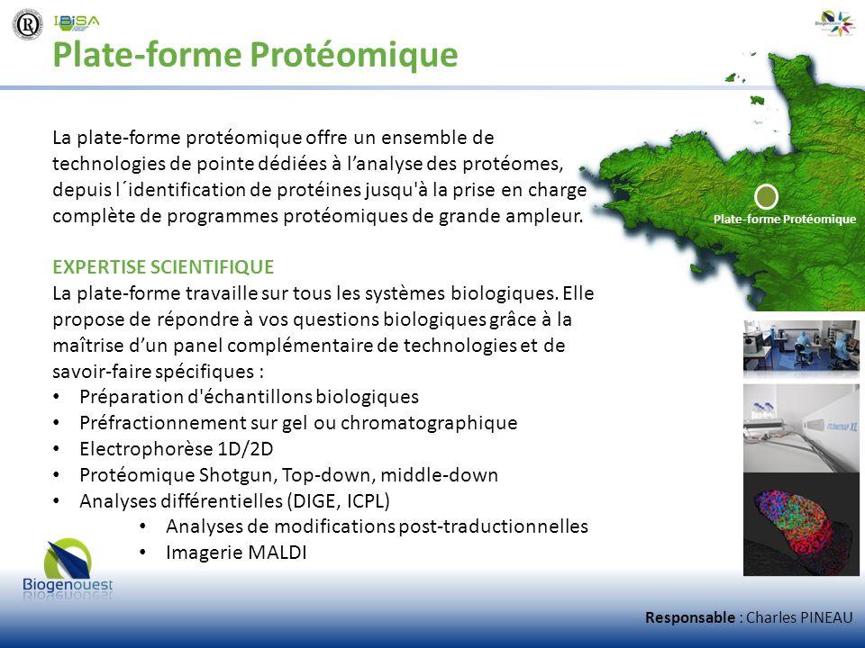 Plate-forme Protéomique La plate-forme protéomique offre un ensemble de technologies de pointe dédiées à lanalyse des protéomes, depuis l´identificati
