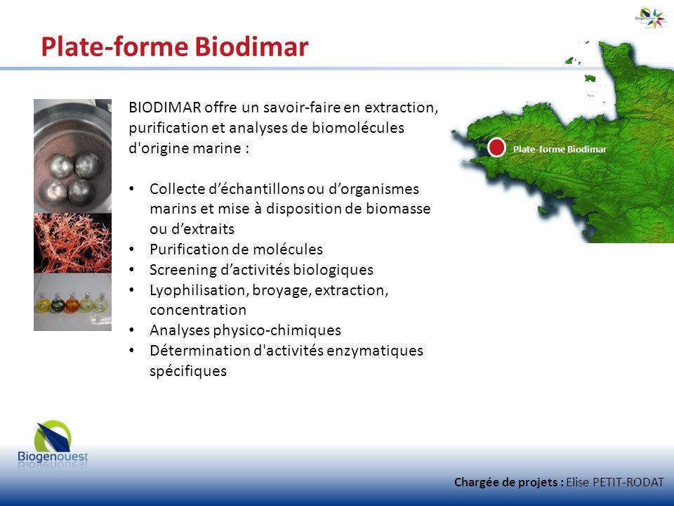 Plate-forme Biodimar BIODIMAR offre un savoir-faire en extraction, purification et analyses de biomolécules d'origine marine : Collecte déchantillons