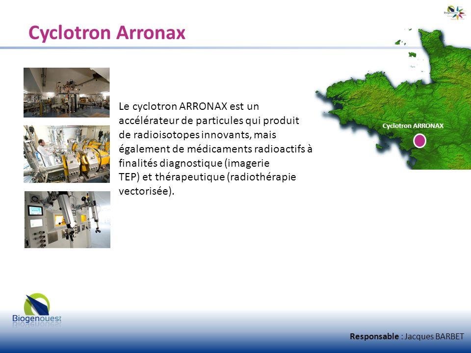 Cyclotron Arronax Le cyclotron ARRONAX est un accélérateur de particules qui produit de radioisotopes innovants, mais également de médicaments radioac