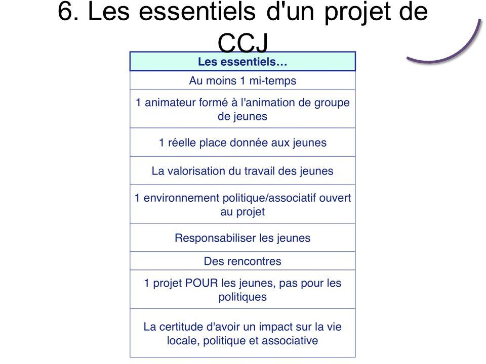 6. Les essentiels d un projet de CCJ