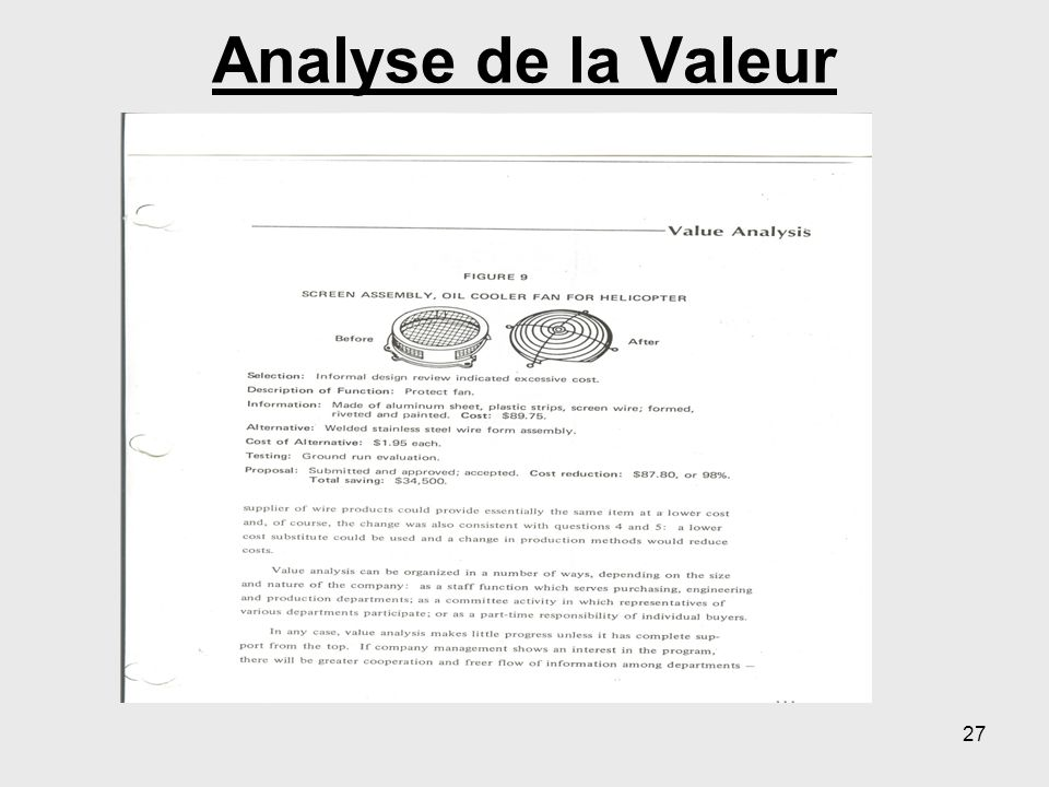 Analyse de la Valeur 27