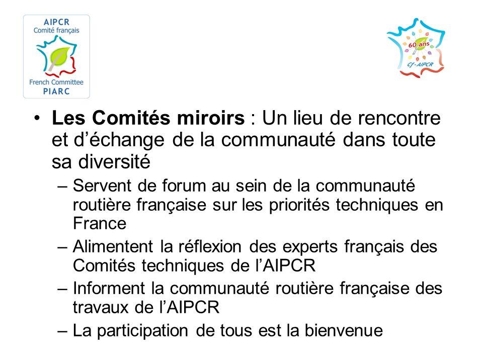 Les Comités miroirs : Un lieu de rencontre et déchange de la communauté dans toute sa diversité –Servent de forum au sein de la communauté routière fr