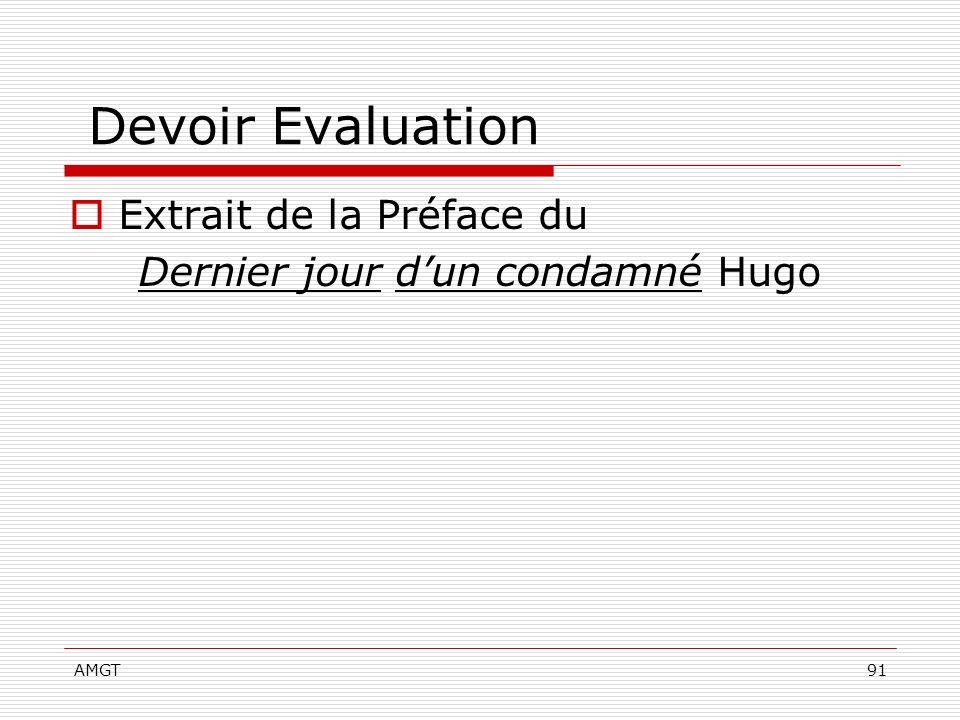 AMGT91 Devoir Evaluation Extrait de la Préface du Dernier jour dun condamné Hugo