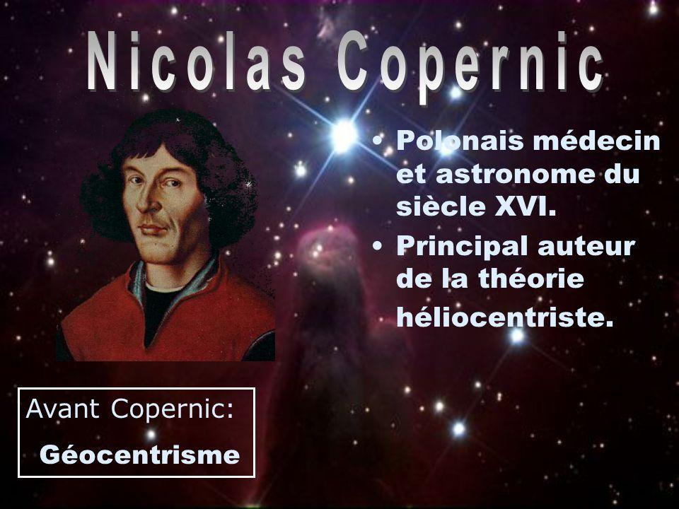Géocentrisme Selon cette théorie, la Terre se trouve au centre de l´Univers et tout tourne autour d´elle
