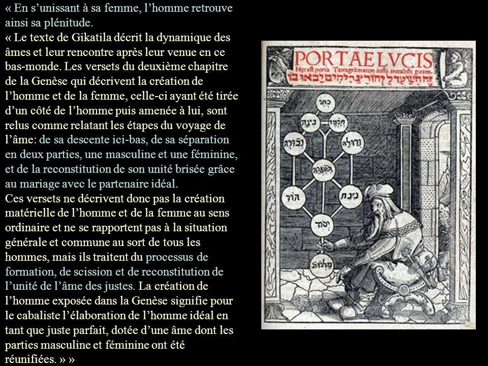 « Comment la «chair une» du verset de la Genèse se rapporte aussi bien à la nature de lâme et que « le juste » « mérite dépouser la femme qui lui étai