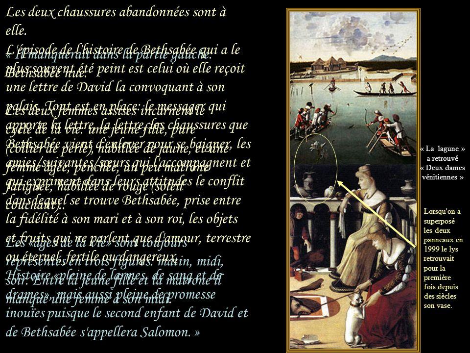« Le Panneau des «Deux dames vénitiennes» aurait fait partie d'un polyptyque profane de Carpaccio.. elles ne s'ennuient pas, elle SONT ennuyées.. pour