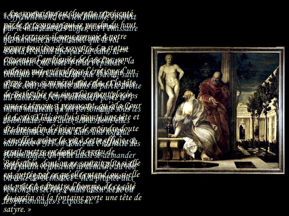 « Il relate un thème mythologique avec des personnages majestueux dans un cadre architectural où abondent portiques et colonnes. Véronèse est un immen