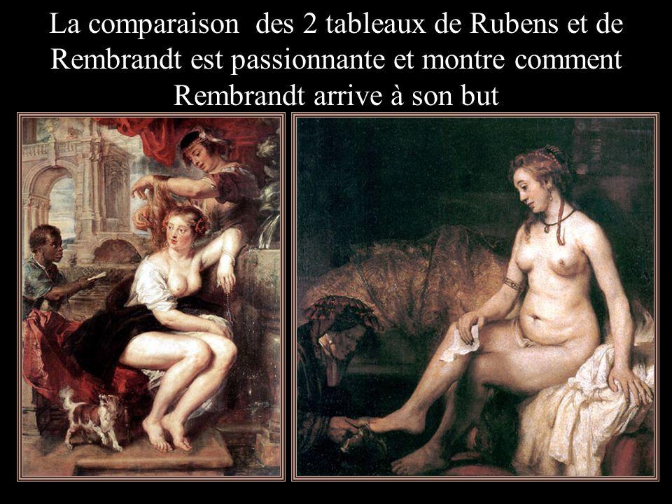 Voici Rubens, cliquer pour voir successivement Willem Drost et enfin Rembrandt Voici 3 tableaux peints à peu près à la même époque : 1635 Peter Paul R