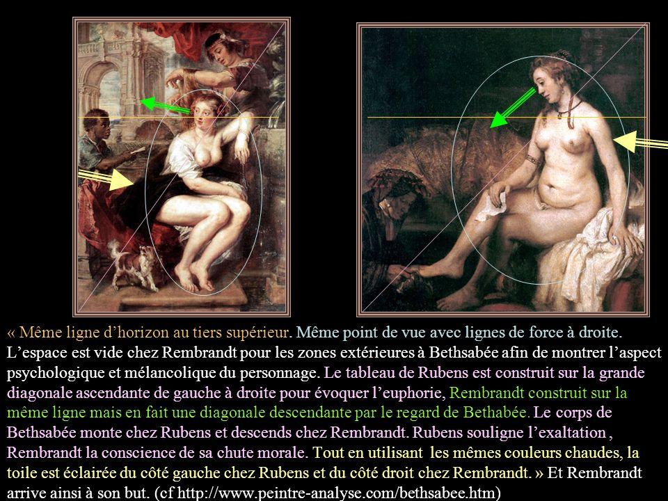 « Dans l'attitude légère et galante, Rubens par rapport à Rembrandt n'exprime pas du tout la même chose. Rubens ignore volontairement la morale. Pas R