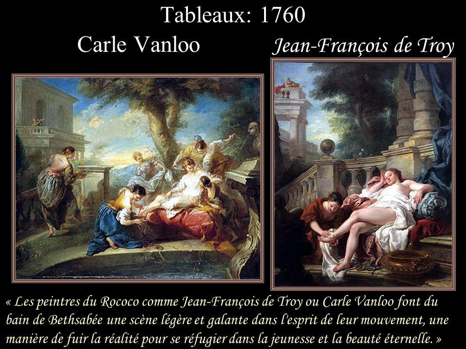 « Dans les 2 tableaux de Sébastiano RICCI (Bathsheba at the Bath et Bathsheba in her Bath ) Bathsheba, dans un jardin clos, se consacre à une toilette