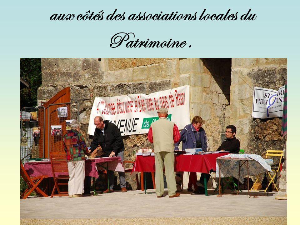 aux côtés des associations locales du Patrimoine.