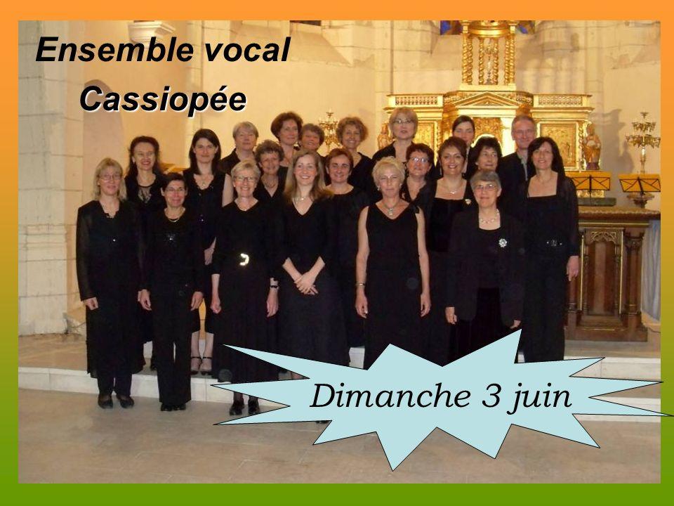 Ensemble vocalCassiopée Dimanche 3 juin