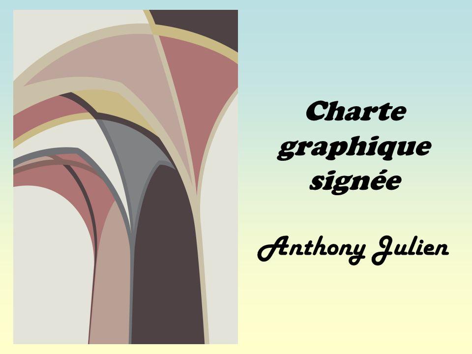 Charte graphique signée Anthony Julien