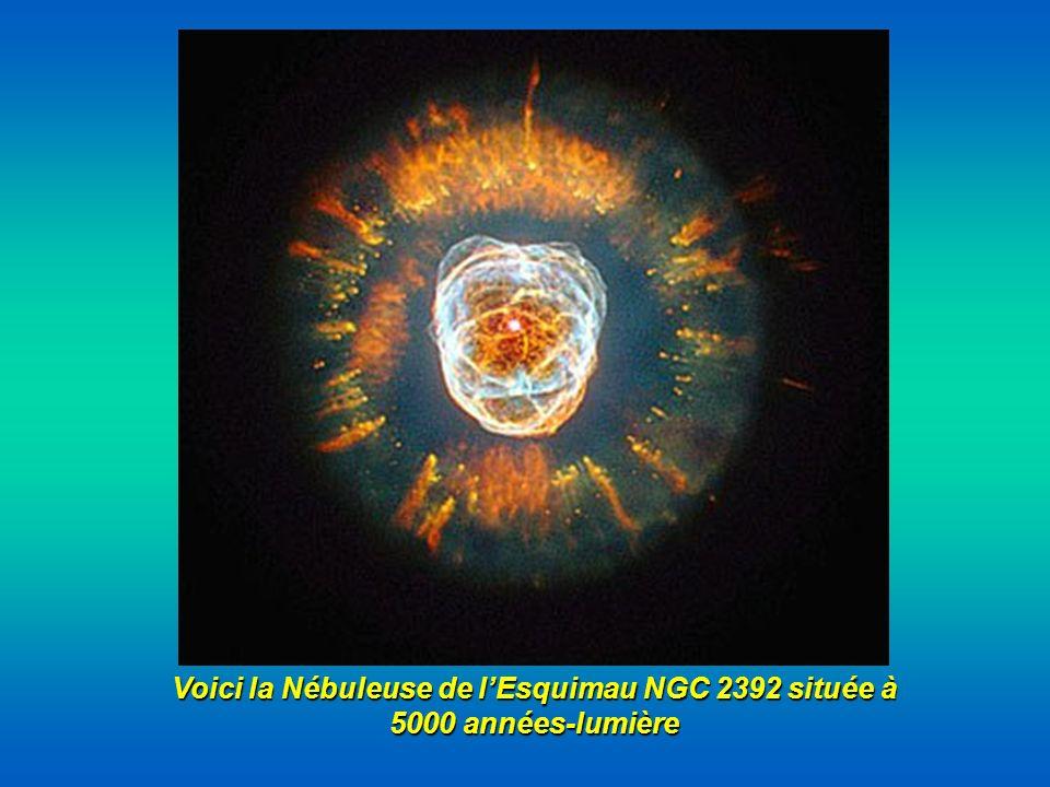 Voici la Nébuleuse de lEsquimau NGC 2392 située à 5000 années-lumière