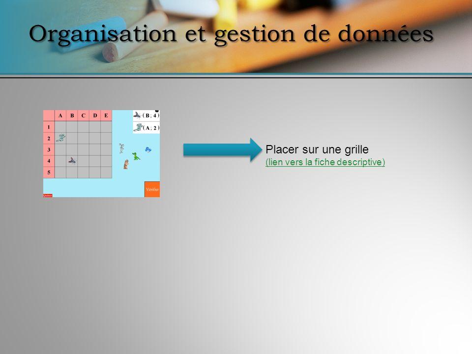 Placer sur une grille (lien vers la fiche descriptive) (lien vers la fiche descriptive)