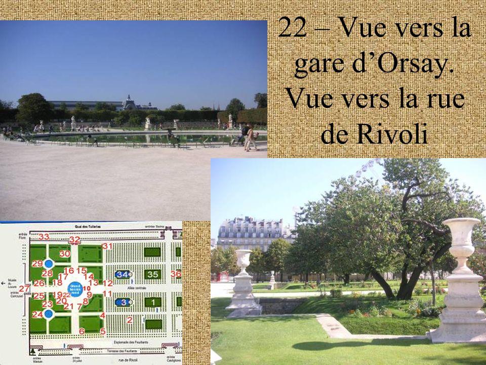 22 – Vue vers la gare dOrsay. Vue vers la rue de Rivoli