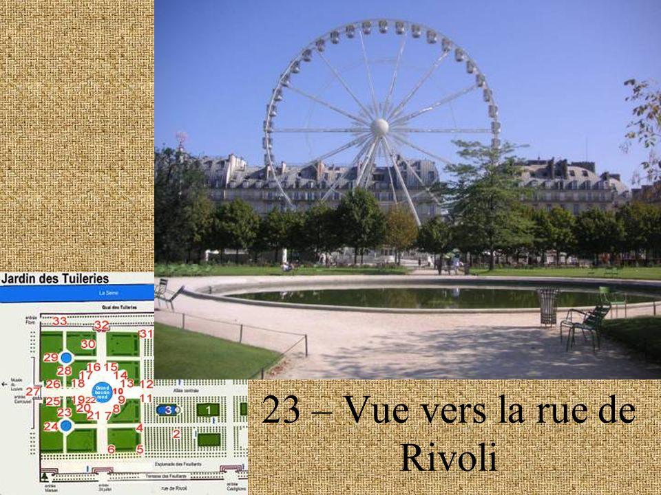 23 – Vue vers la rue de Rivoli