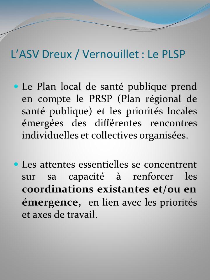 LASV Dreux / Vernouillet : Le PLSP Le Plan local de santé publique prend en compte le PRSP (Plan régional de santé publique) et les priorités locales