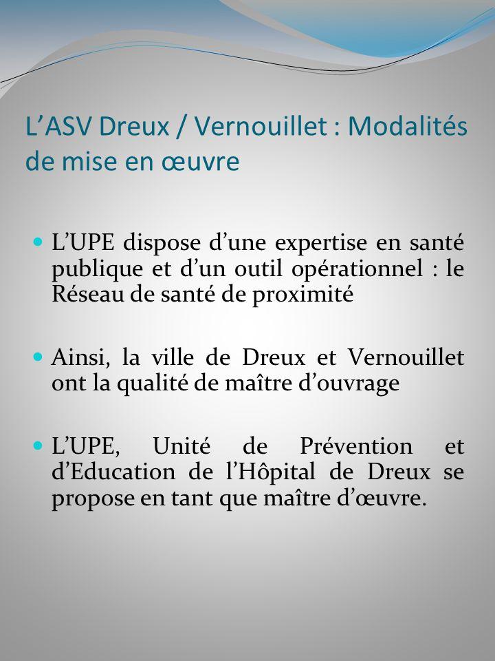 LASV Dreux / Vernouillet : Modalités de mise en œuvre LUPE dispose dune expertise en santé publique et dun outil opérationnel : le Réseau de santé de