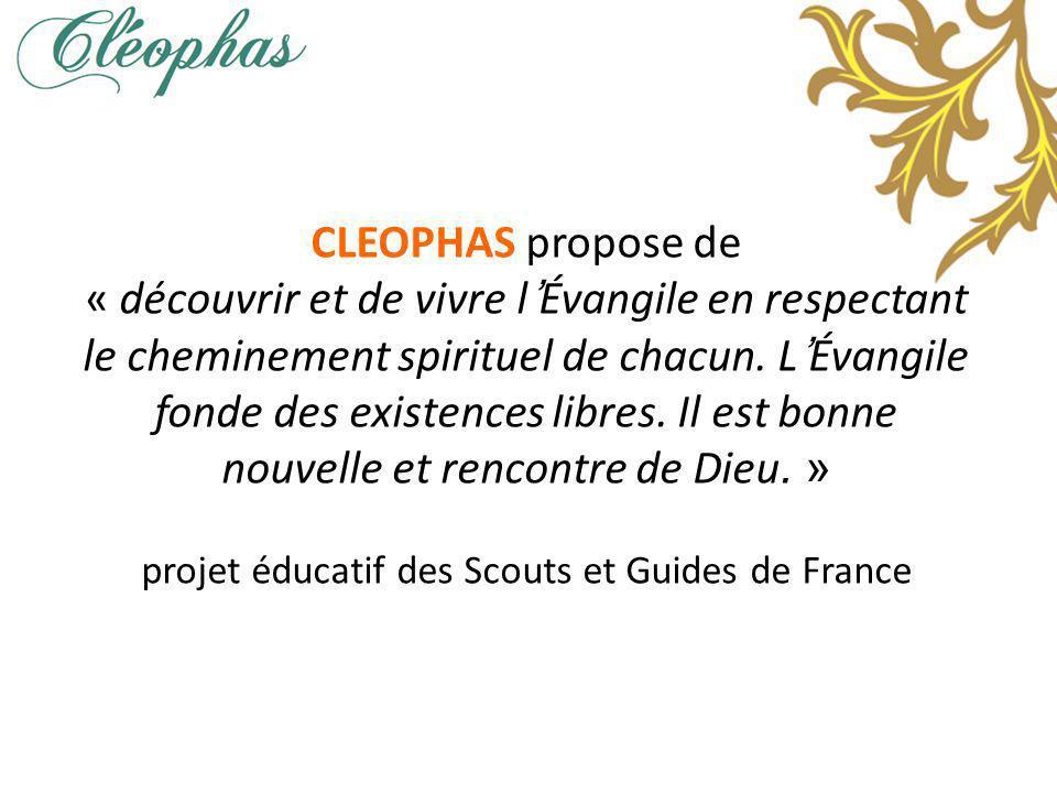 CLEOPHAS propose de « découvrir et de vivre lÉvangile en respectant le cheminement spirituel de chacun.
