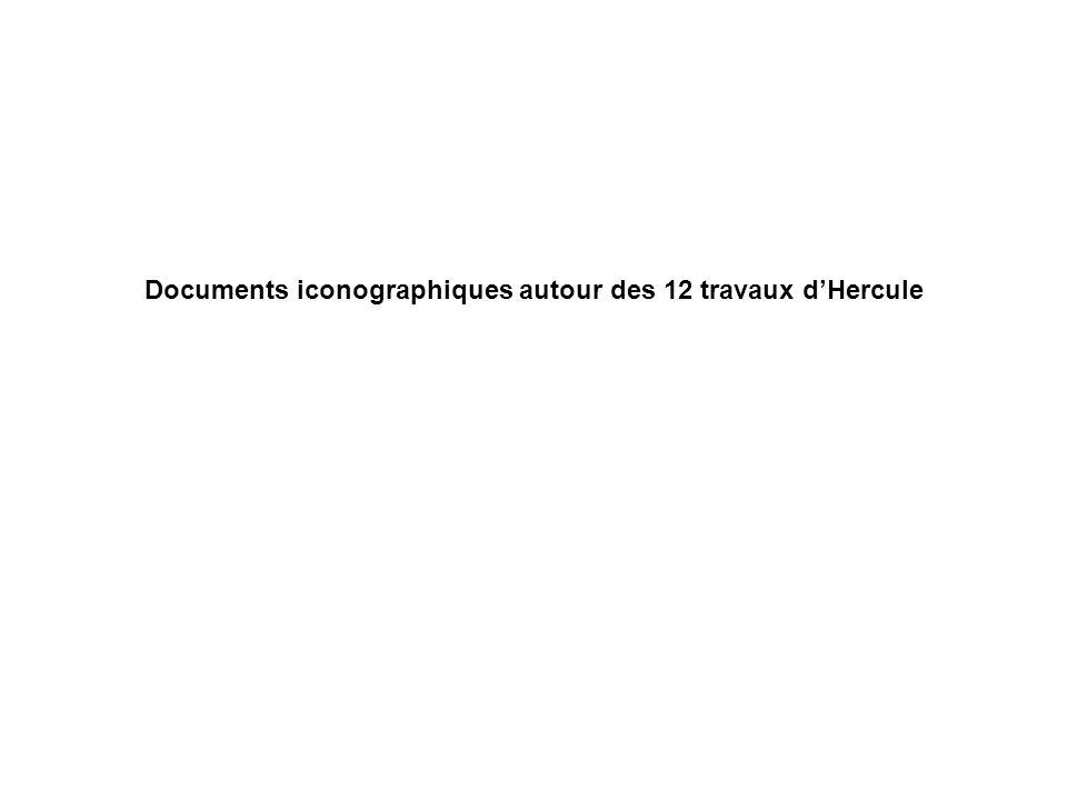 1- Tuer le lion de Némée Héraclès et le lion, stamnos à figures rouges, 490 avJC.