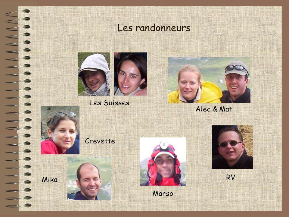 Les randonneurs Les Suisses Crevette Mika Alec & Mat Marso RV