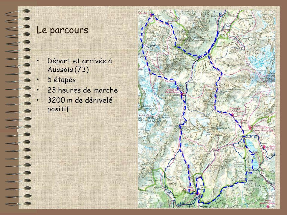 Etape 4 : de Peclet-Polset à lOrgère Départ : refuge de Peclet-Polset (2533 m) Arrivée : refuge de Porte de lOrgère (1935 m) Passage par le Col de Chavière (2796 m) Durée : 5 h