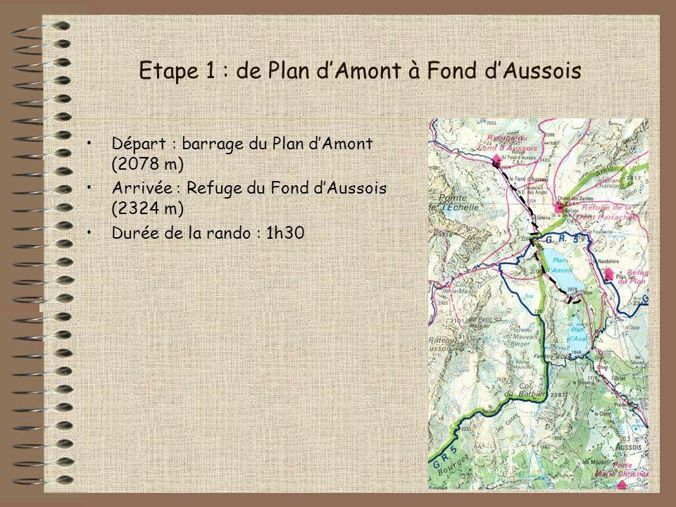 Première étape : mise en jambes… Beau temps, vue dégagée… Après 1h30 dapproche, le refuge du Fonds dAussois est en vue :