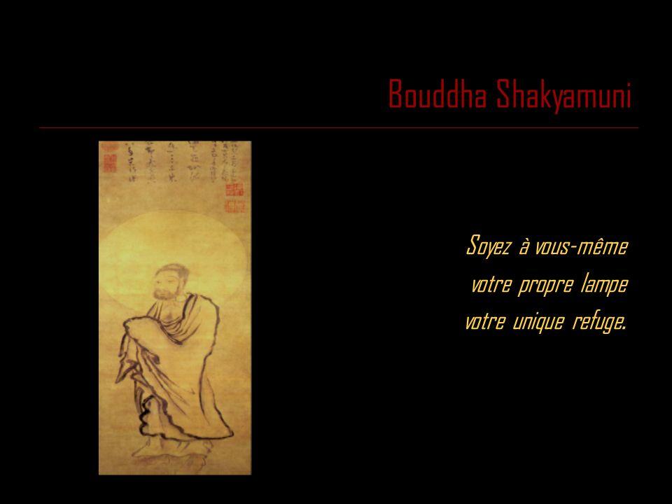 Bouddha Shakyamuni Soyez à vous-même votre propre lampe votre unique refuge.