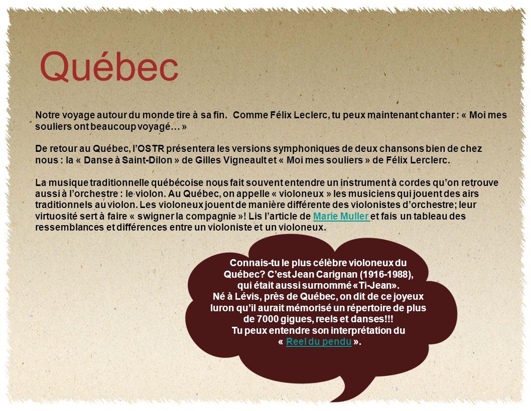 Québec Notre voyage autour du monde tire à sa fin.