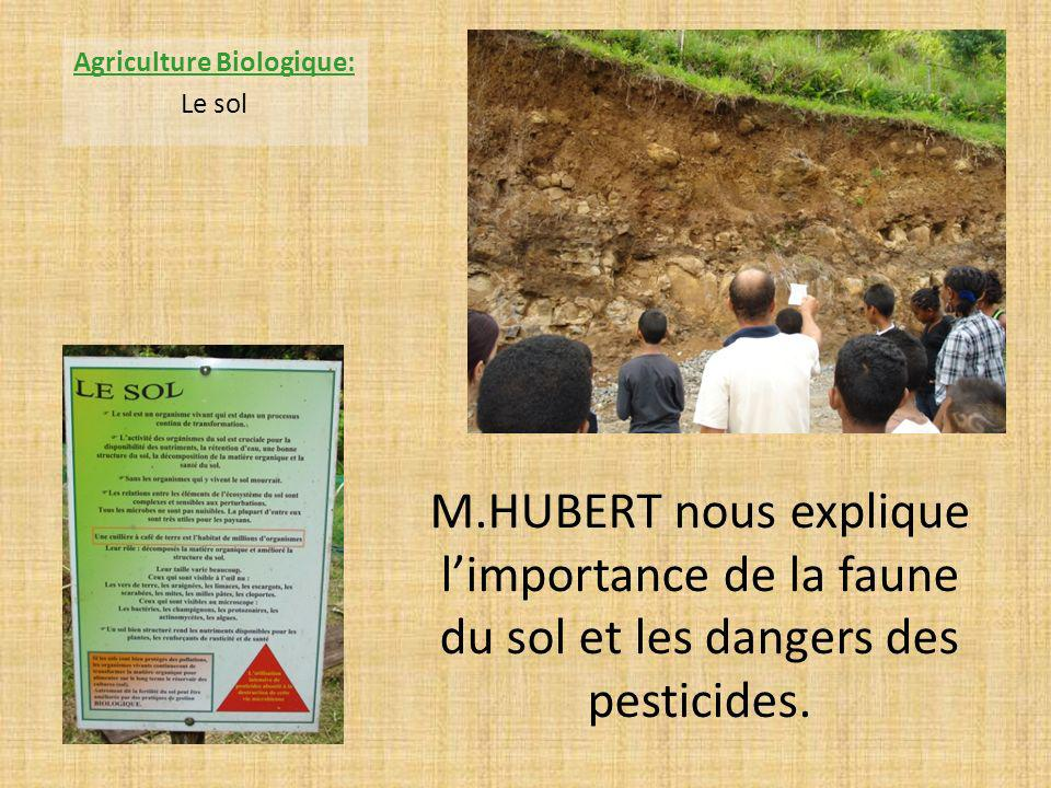 M.HUBERT nous explique limportance de la faune du sol et les dangers des pesticides.