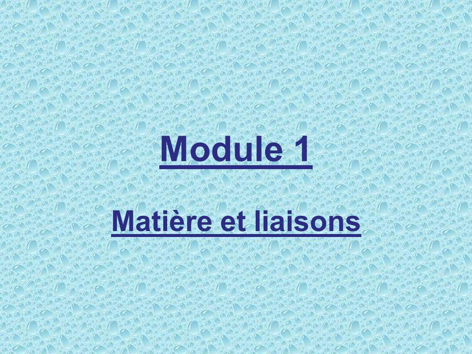 Module 1 Matière et liaisons