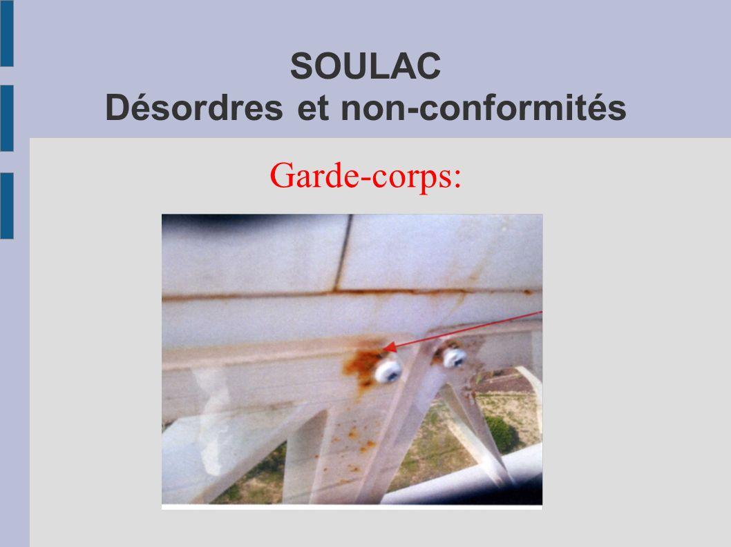 SOULAC Désordres et non-conformités Garde-corps: