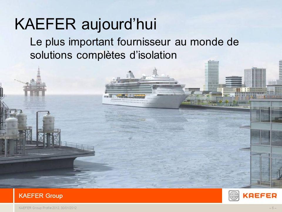 KAEFER Group – 6 –KAEFER Group Profile 2012, 30/01/2012 CA en mio.